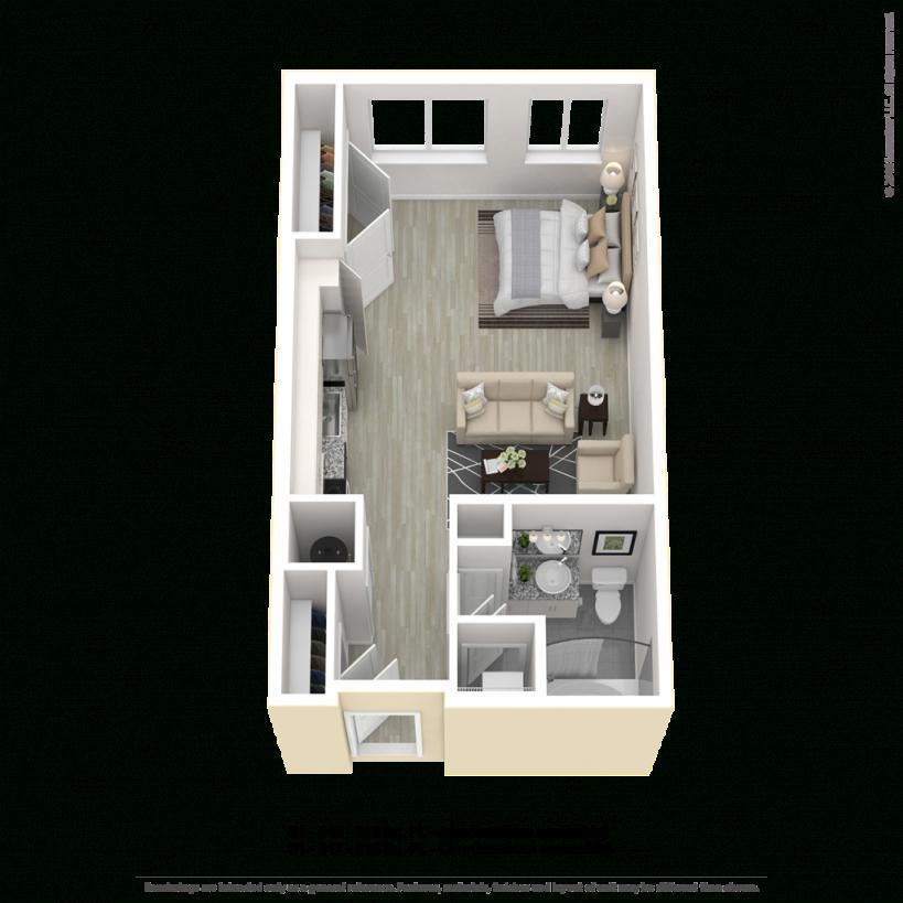 One Bedroom, Studio And One Bedroom Den Apartment Floorplans inside One Bedroom Apartment Floor Plans