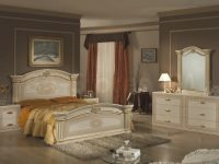 Opera Italian Classic Beige-Gold Bedroom Set (Bed, 2 throughout Gold Bedroom Furniture Sets