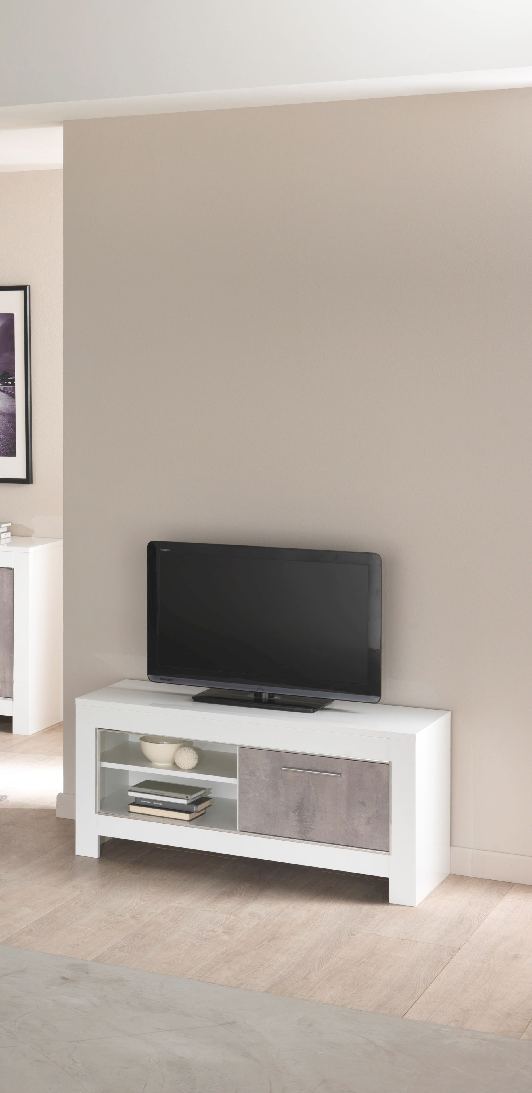 Orion Italian White And Grey Marble High Gloss Tv Unit 112Cm with regard to Awesome Stylish Tv Unit