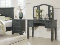 Osp Home Furnishings Farmhouse Basics King Bedroom Set With 2 Nightstands, 1 Vanity And Bench, And 1 Chest with Fresh Bedroom Set With Vanity