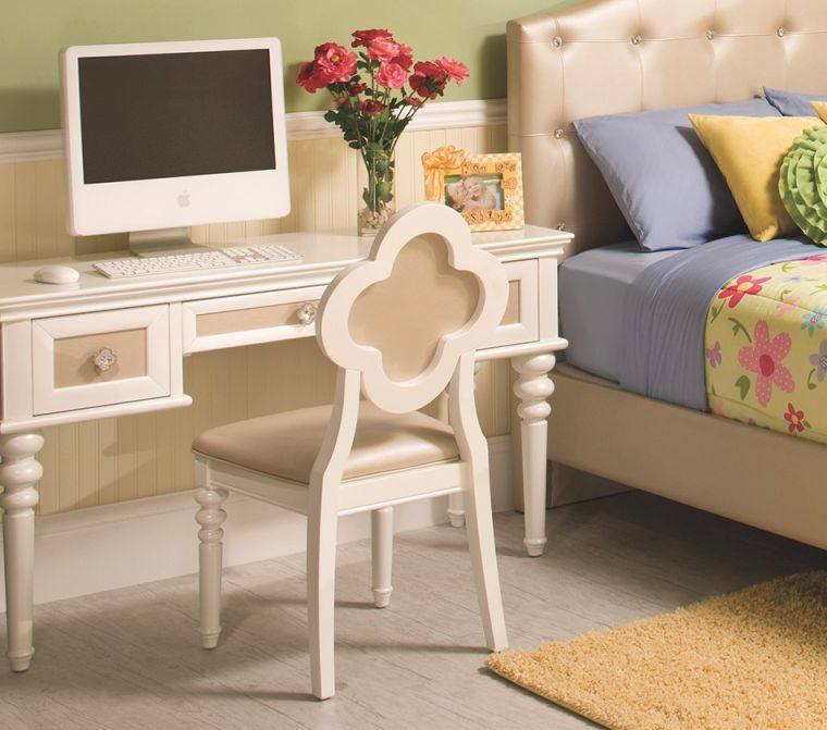 Paris Youth Desk & Chair in Best of Bedroom Set With Desk