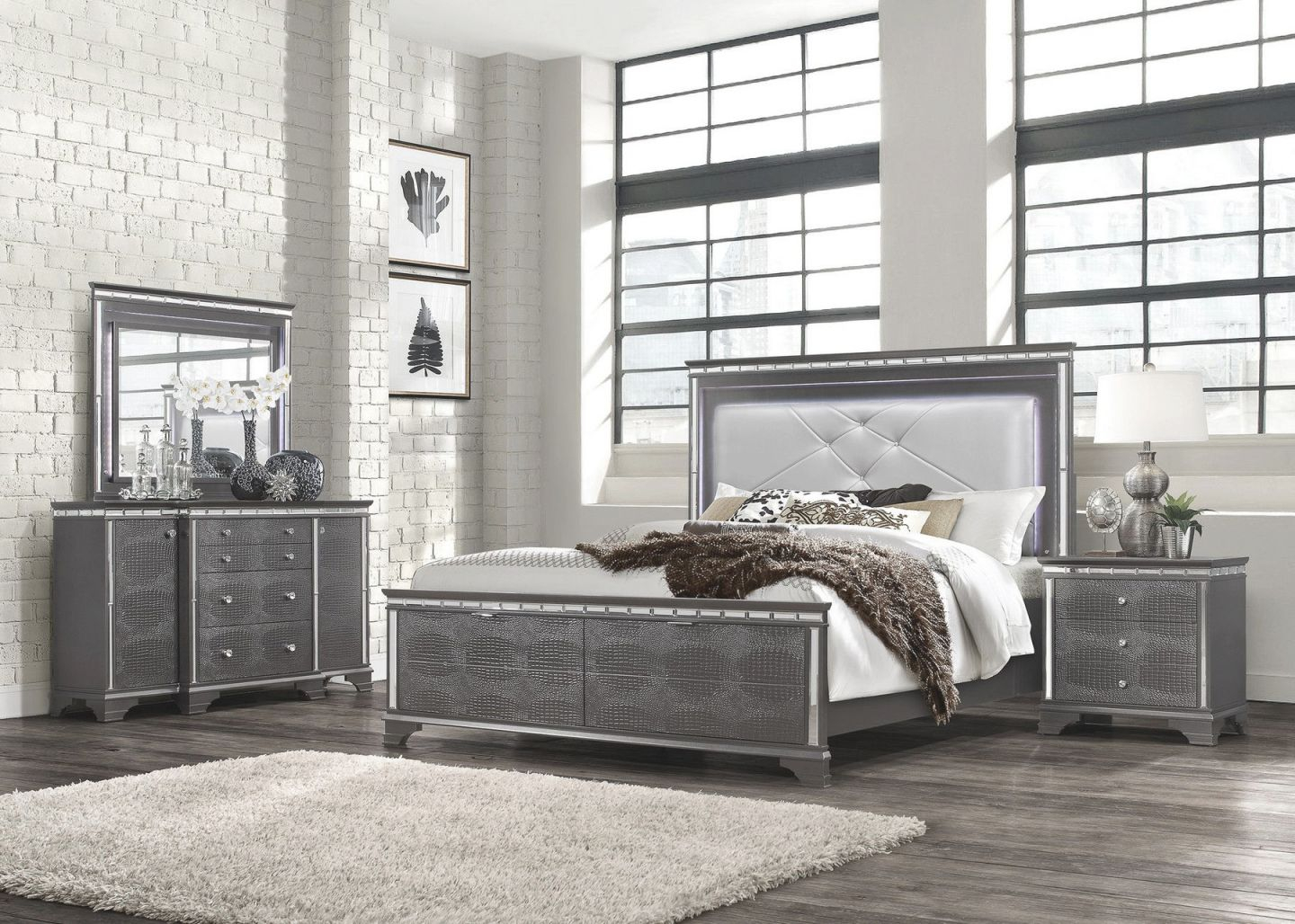 Penelope King Set King Size B,2Ns,dr,mr throughout Luxury Bedroom Sets King