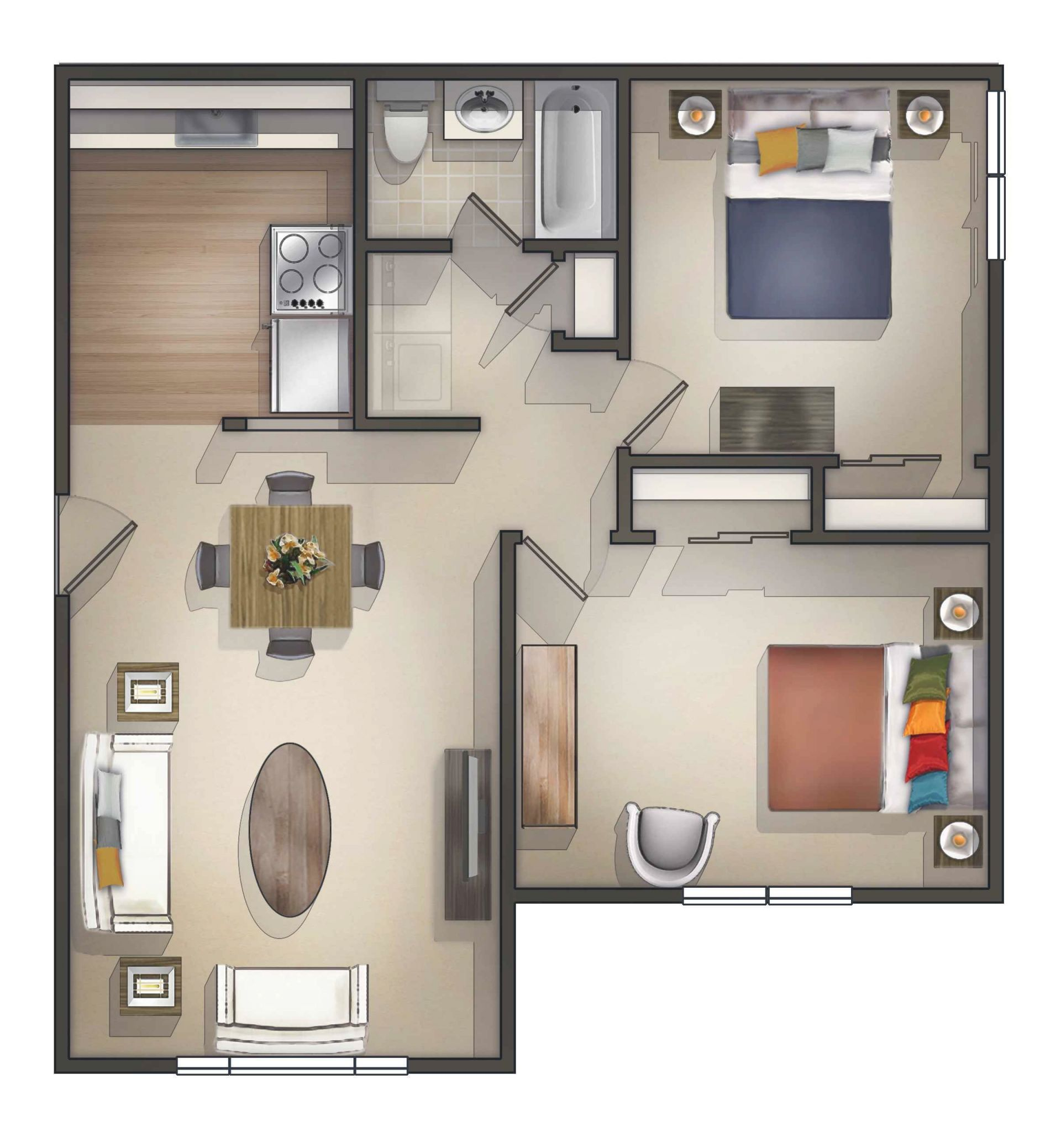 Pin On Bedroom Apartment in Fresh One Bedroom Apartment Floor Plans