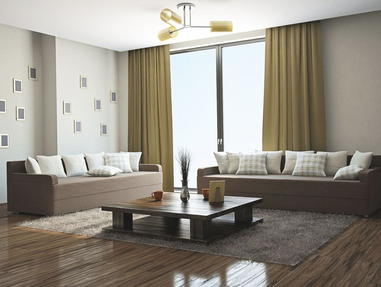 Pin On Conception De La Maison Minimaliste throughout Best of Curtains For Living Room With Brown Furniture