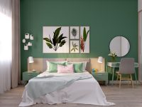 pink-and-green-bedroom