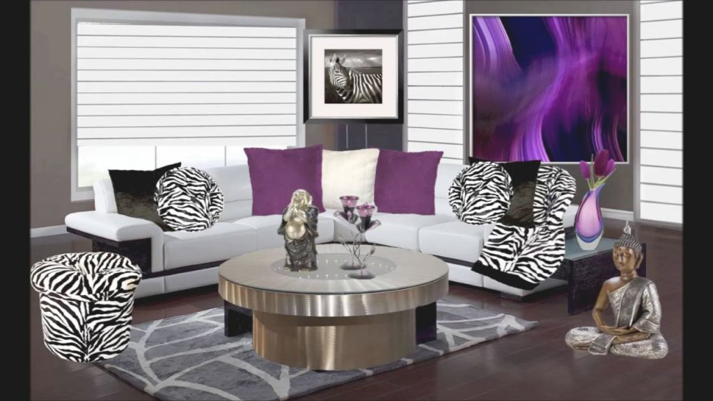 Purple And Animal Print Living Room Decor throughout Animal Print Living Room Decor