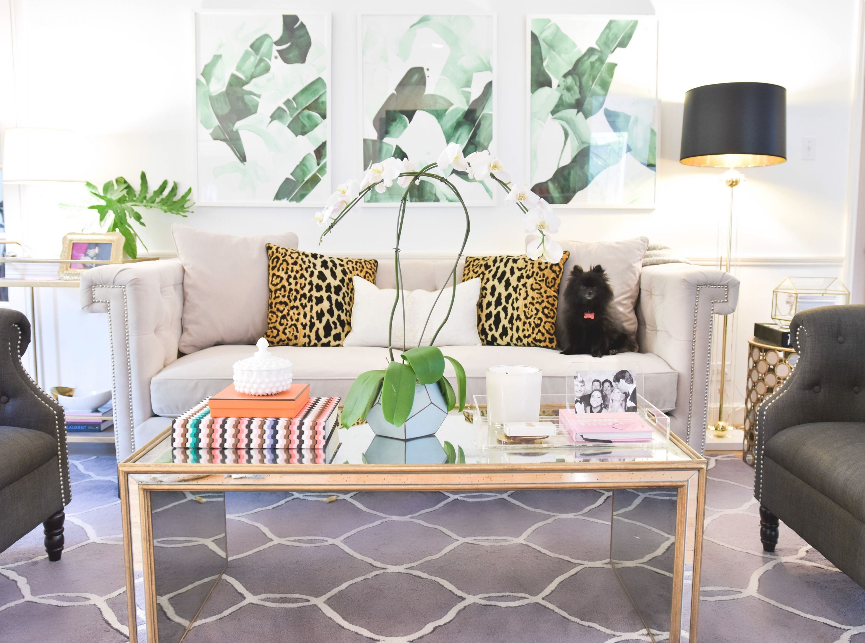 Quick Living Room Update! | Murphy's Law for Unique Animal Print Living Room Decor