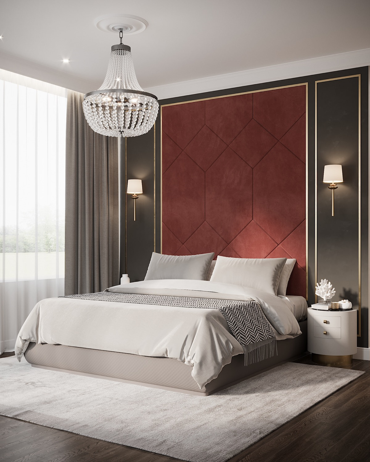 red-accent-wall-bedroom