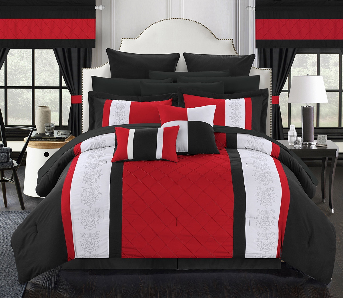 red-and-black-bedroom