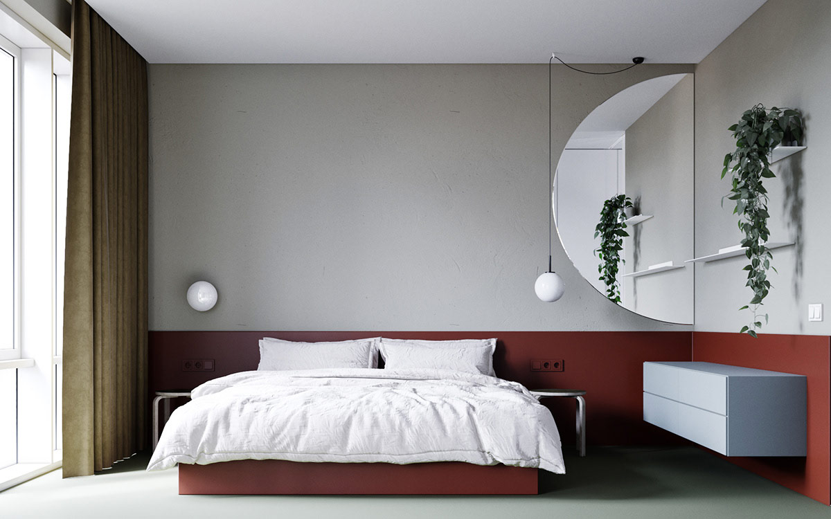 red-and-gray-bedroom