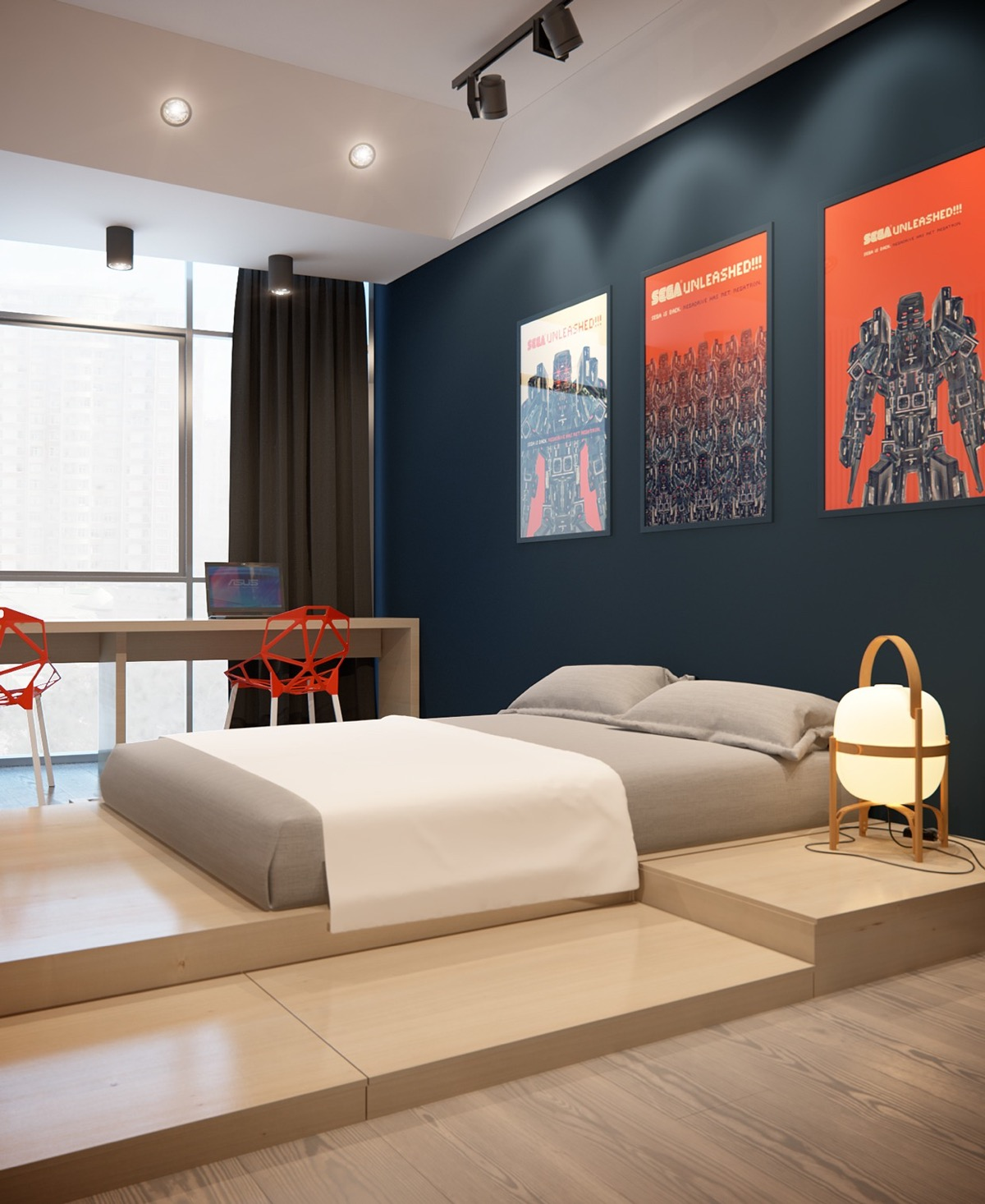 red-and-grey-bedroom-ideas