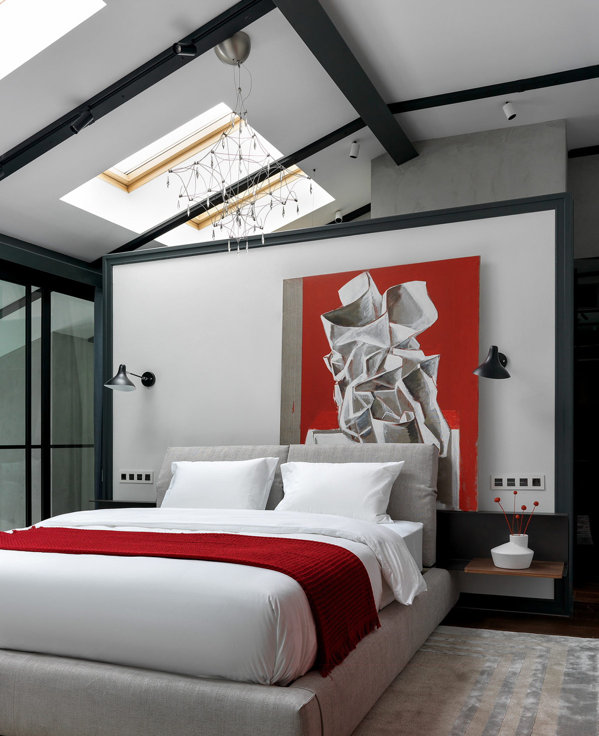 red-and-grey-bedroom