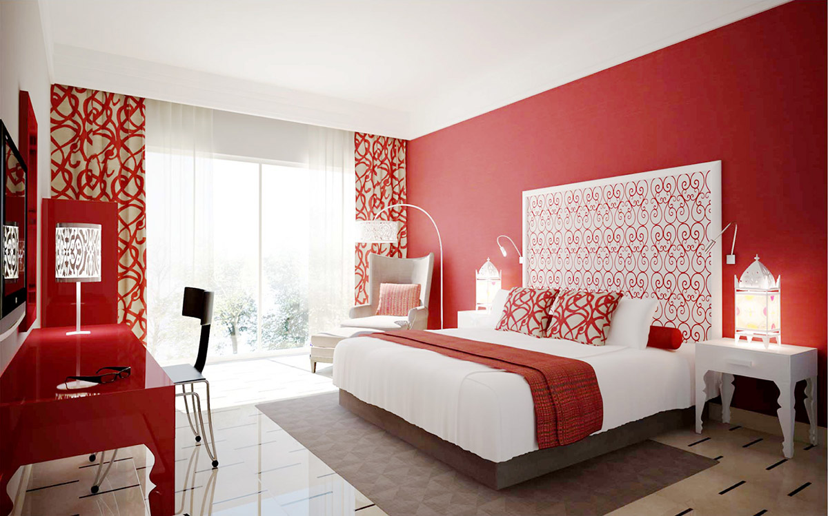 red-bedroom-curtain