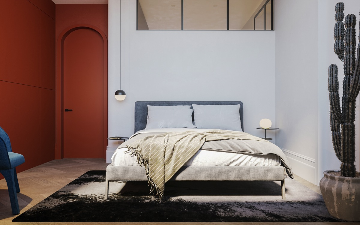 red-colour-bedroom