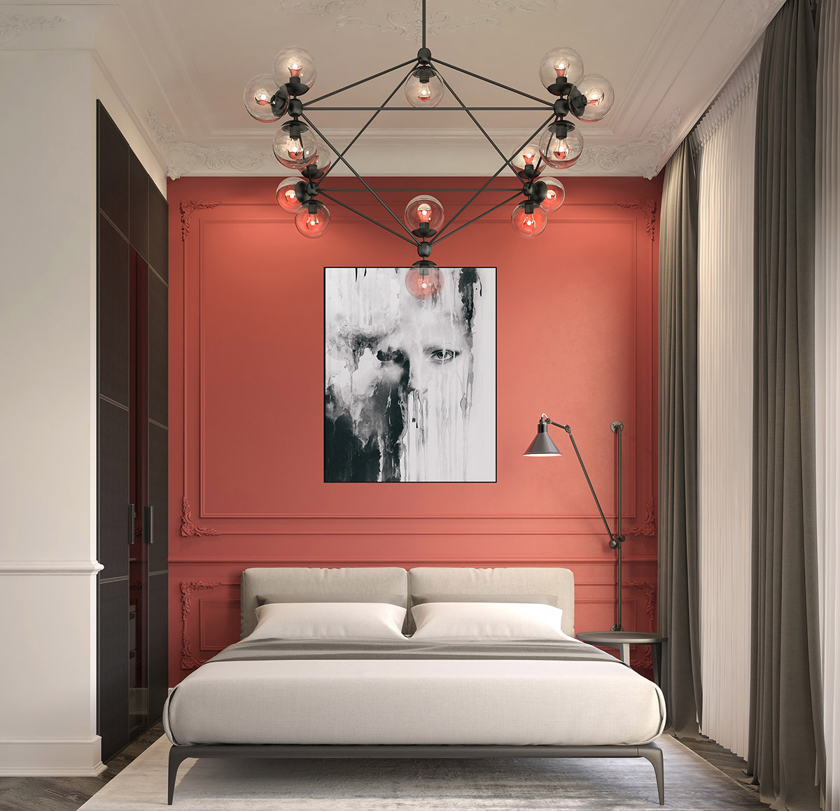 red-grey-and-black-bedroom