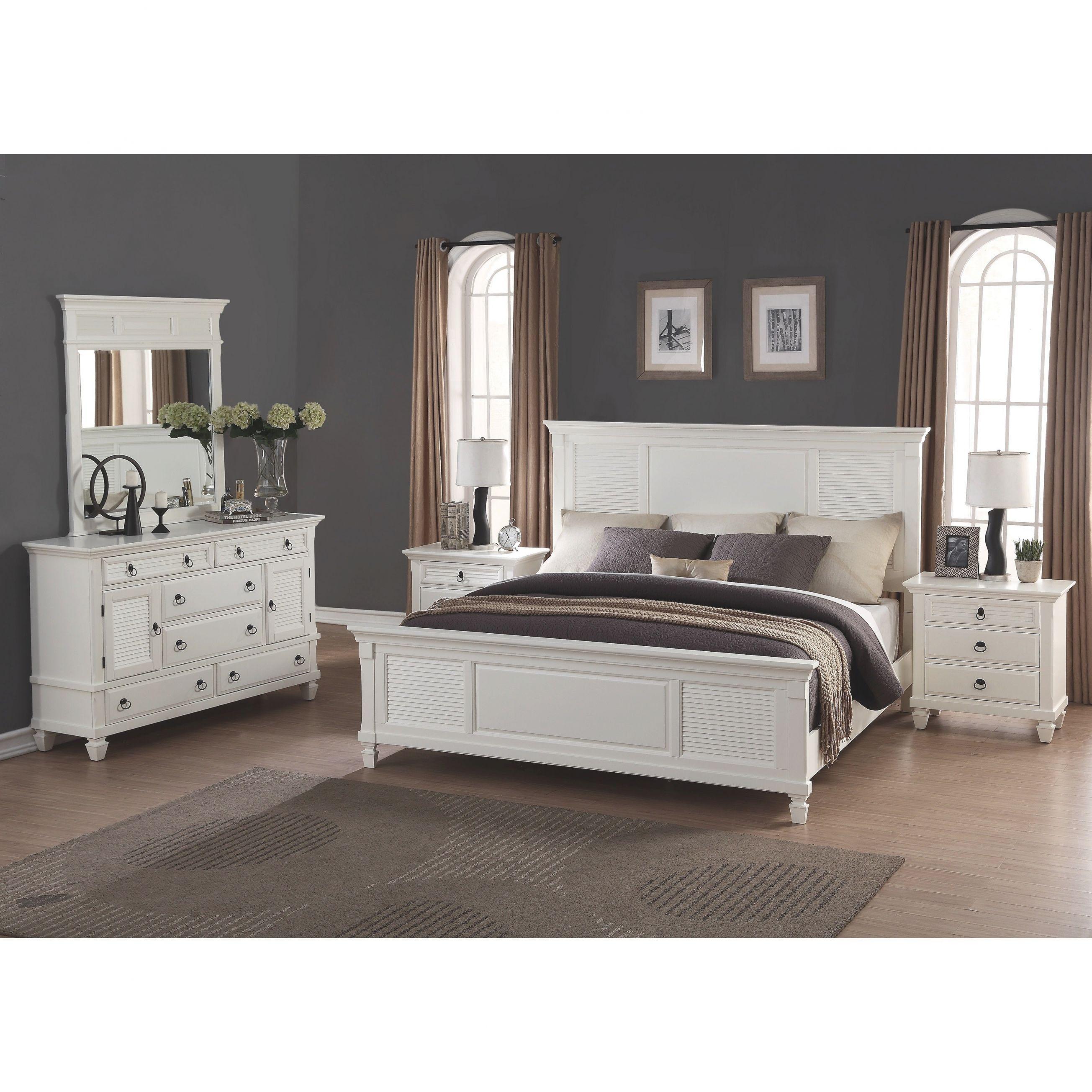 Regitina White 5-Piece King-Size Bedroom Furniture Set with Cheap White Bedroom Furniture Sets