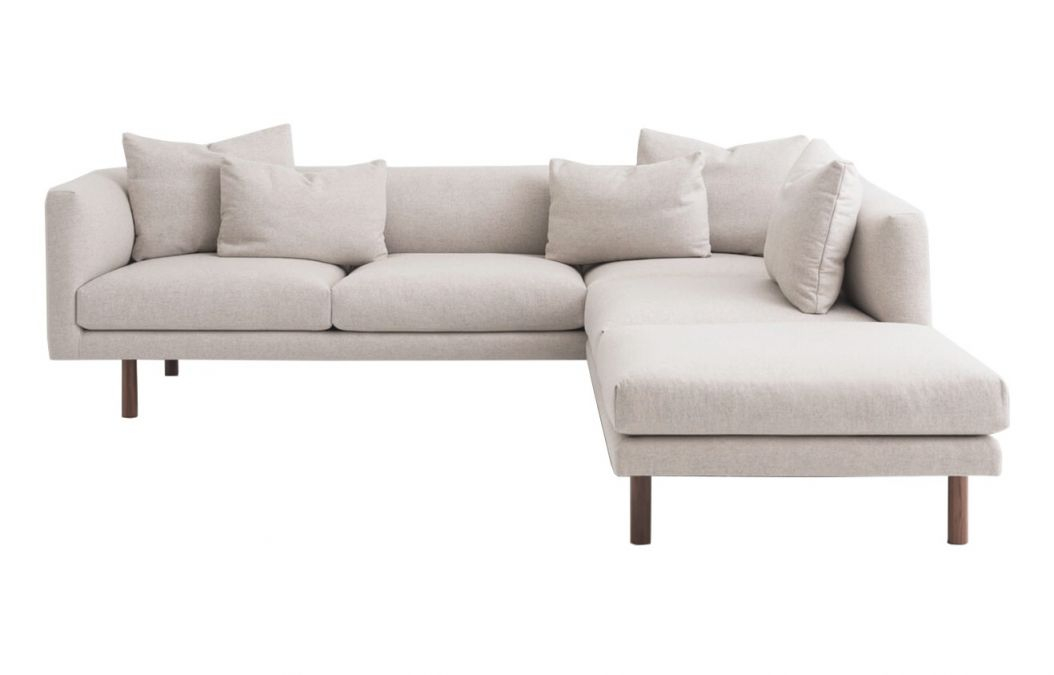 Replay Fabric 2-Piece Sectional Sofa With Backless Chaise throughout Elegant 2 Piece Sectional With Chaise