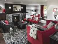 Retro Red, Black And White Family Room | Hgtv in Fresh Retro Living Room Decor