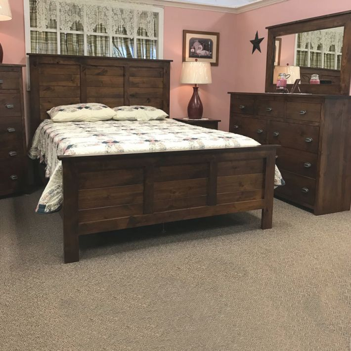 Rustic Farmhouse Bedroom Set, Solid Construction And Bolted in Unique Rustic Bedroom Furniture Sets