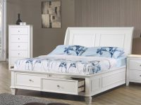 Sandy Beach Twin Sleigh Bed With Footboard Storagecoaster At Value City Furniture intended for Twin Bedroom Furniture Set