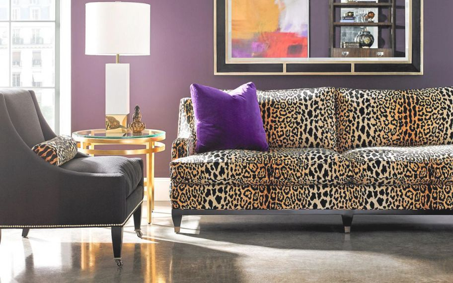 Seeing Spots: Leopard Prints Leap Back Into Home Decor within Animal Print Living Room Decor