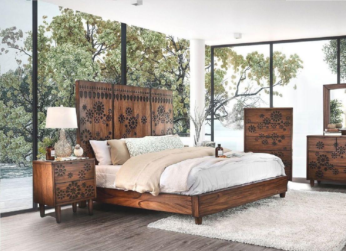 Sergei Platform Configurable Bedroom Set in Unique Rustic Bedroom Furniture Sets