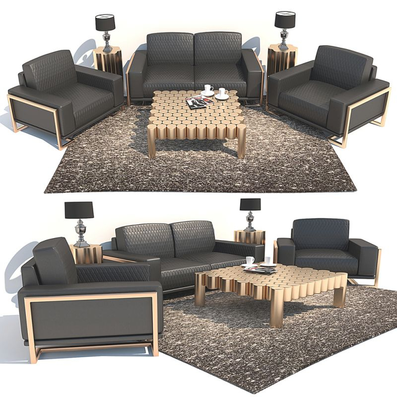 Set Of Furniture Aico Michael Amini throughout Lovely Michael Amini Living Room Furniture