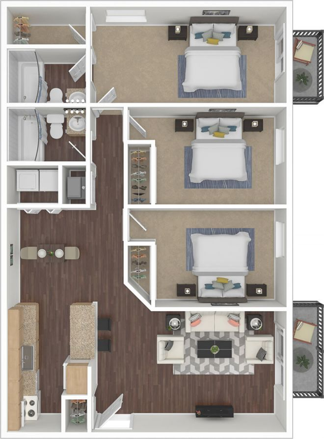 Silvertree Communities – 2 & 3 Bedroom Apartments Near Ball regarding Luxury Three Bedroom Apartment