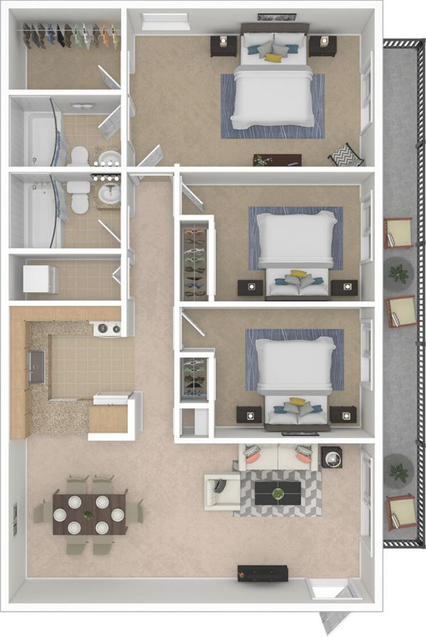 Silvertree Communities – 2 & 3 Bedroom Apartments Near Ball throughout Luxury Three Bedroom Apartment