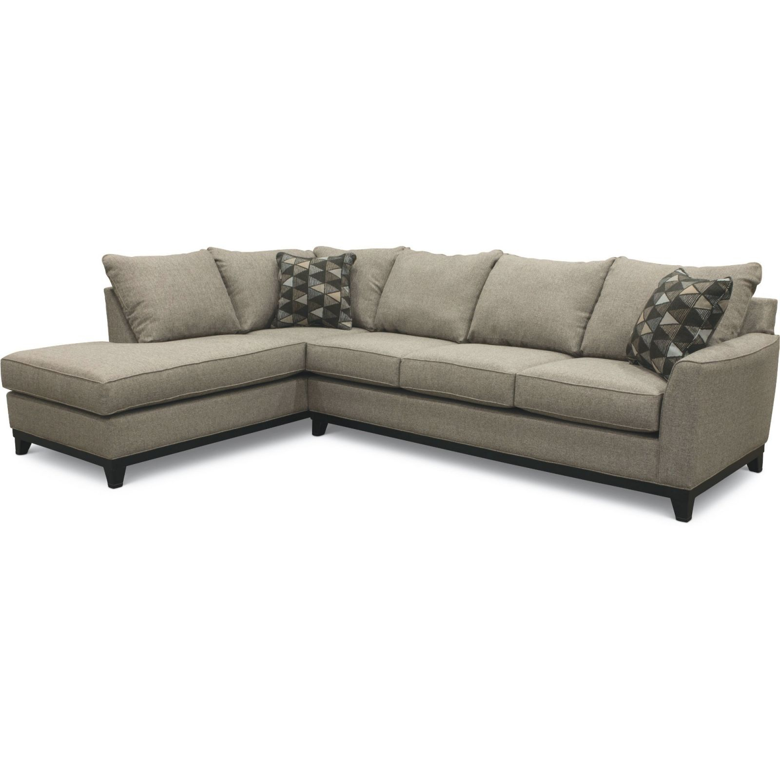 Slate Gray 2 Piece Sectional Sofa With Laf Chaise – Emerson with regard to Elegant 2 Piece Sectional With Chaise