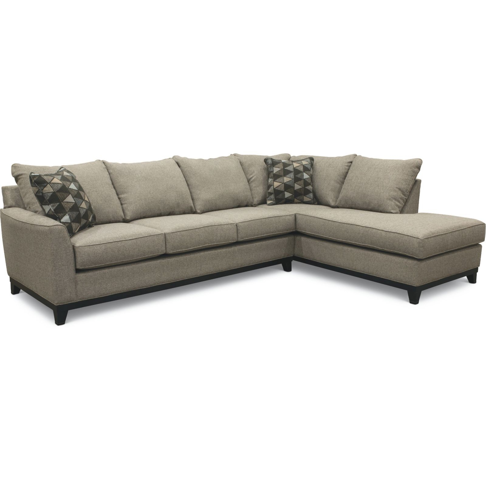 Slate Gray 2 Piece Sectional Sofa With Raf Chaise – Emerson for Elegant 2 Piece Sectional With Chaise