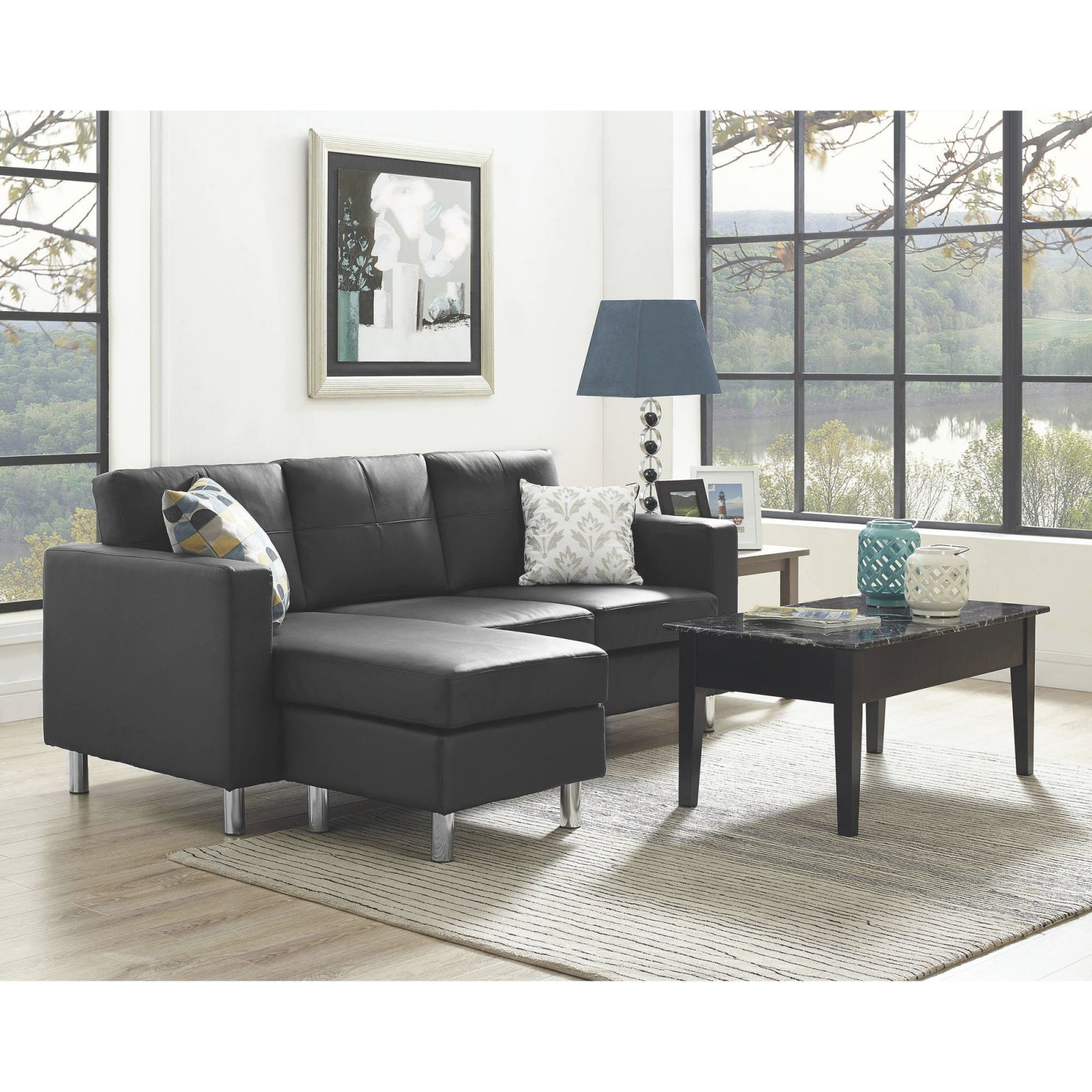 Small Spaces Living Room Value Bundle - Walmart throughout Awesome Furniture For Small Spaces Living Room