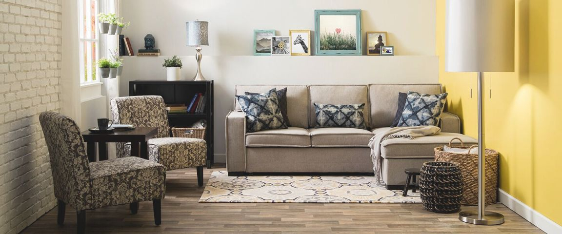 Small Spaces   Shop The Look   Bobs intended for Awesome Furniture For Small Spaces Living Room
