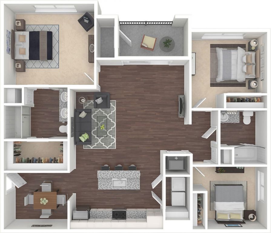 Spectra – Luxury 1, 2 & 3 Bed Apartments In South Fort Myers, Fl pertaining to Three Bedroom Apartment