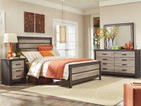 Standard Furniture Freemont 4-Piece Panel Bedroom Set In Weathered Oak with regard to Oak Bedroom Furniture Sets