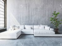 Stylish Modern White Modular Sofa Day Bed With Cushions In A.. inside Modular Living Room Furniture