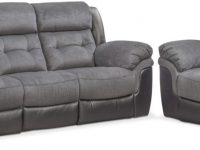 Tacoma Dual-Power Reclining Sofa And Recliner Set regarding Grey Living Room Furniture Set