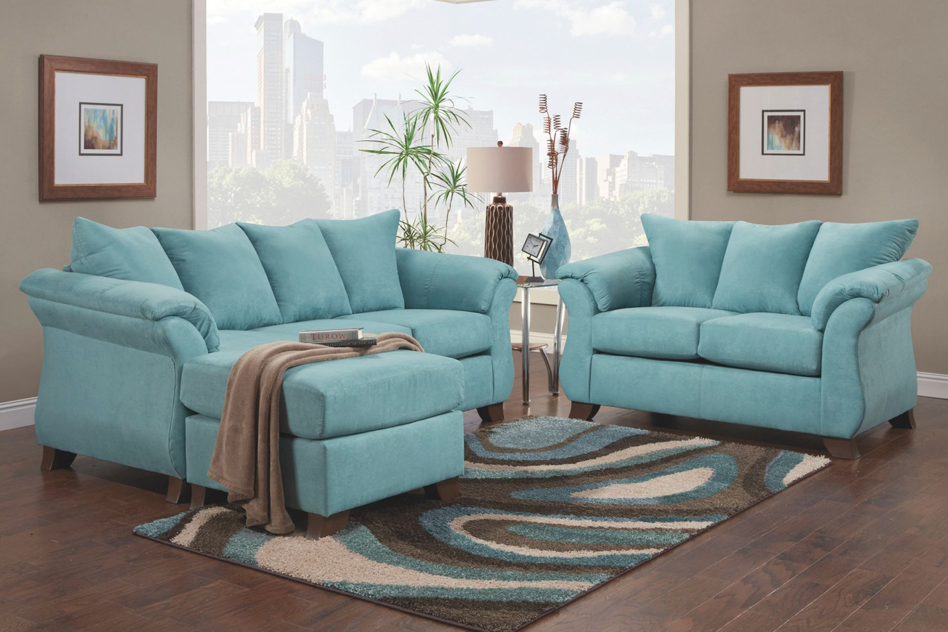 Taffy Living Room Collection with regard to Teal Living Room Furniture