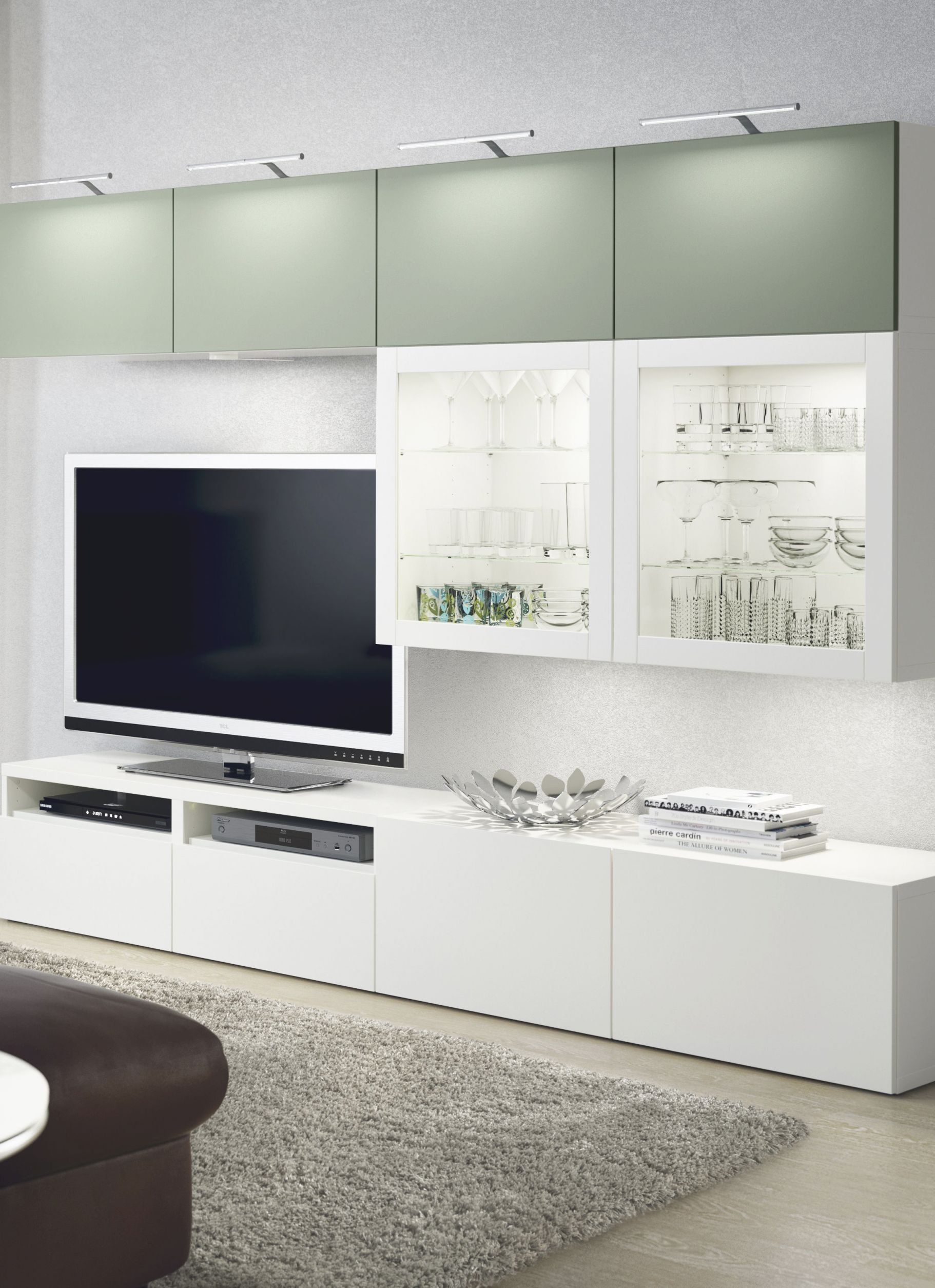 The Bestå Storage System Is A Neat & Stylish Way To Organize with Ikea Wall Cabinets Living Room