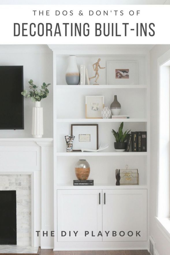 The Dos And Don'ts Of Decorating Built-In Shelves | Styling in Decorating Shelves In Living Room