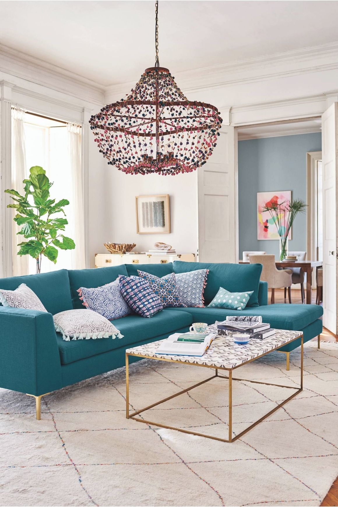 The Inspired Home | Home Decor | Teal Sofa, Living Room Sofa in Teal Living Room Furniture