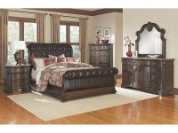 The Monticello Sleigh Bedroom Collection | Value City in Value City Furniture Bedroom Set