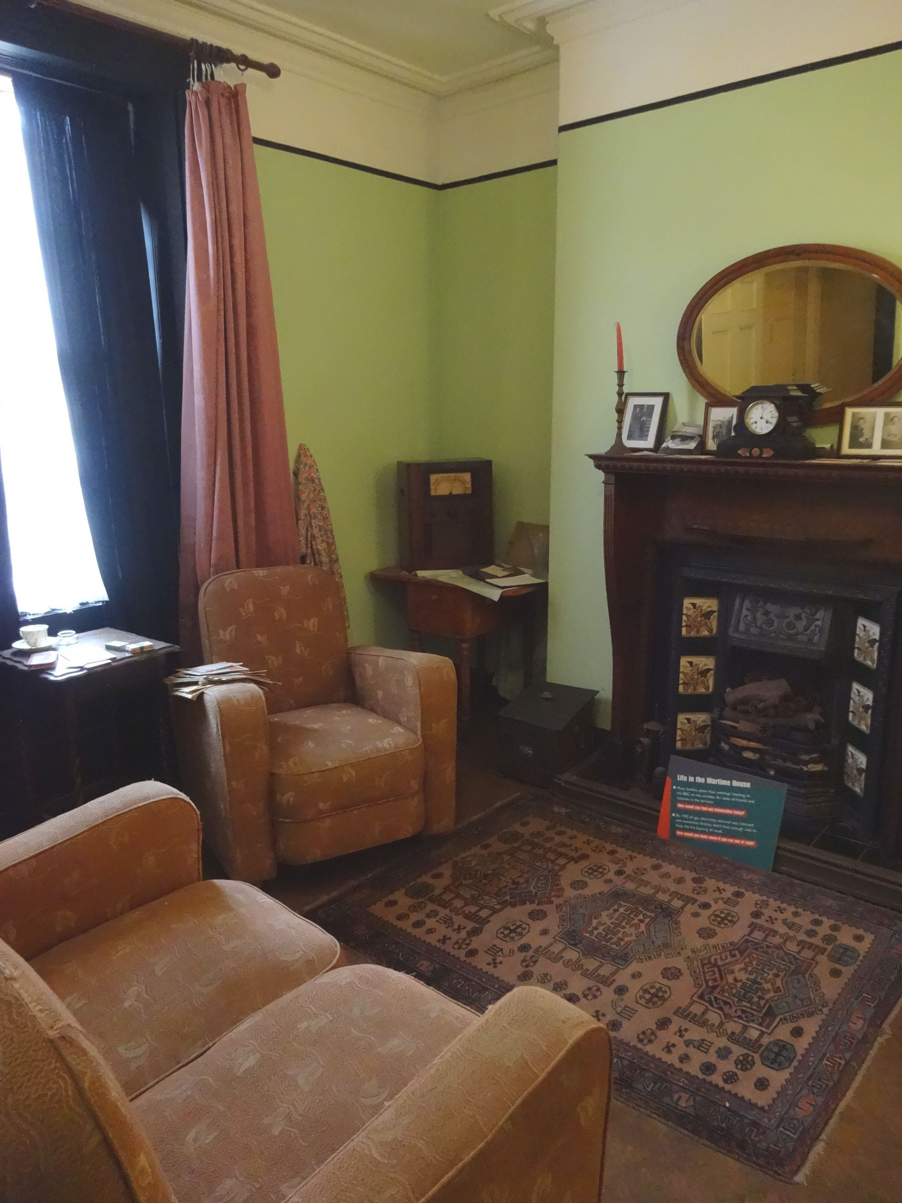 The Wartime House Living Room … | Green Living Room In 2019 pertaining to 1940 Living Room Decor