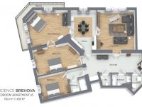 Three Bedroom Apartment | Residence Brehova throughout Three Bedroom Apartment