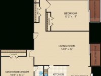 Three-Bedroom Apartment & Townhome Floor Plans | Portabello regarding Three Bedroom Apartment
