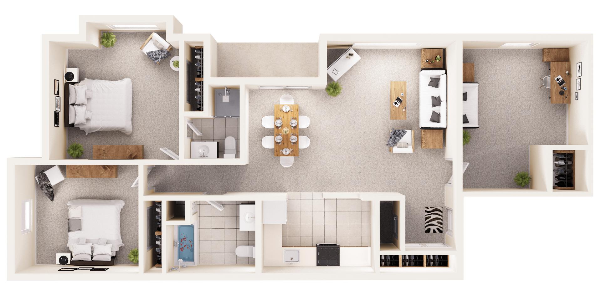 Three Bedroom Apartments | Colonie, Ny | Shaker Run for Three Bedroom Apartment