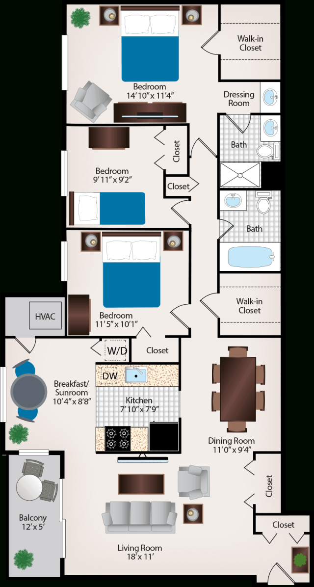 Three Bedroom Apartments Near Silver Spring, Md for Three Bedroom Apartment