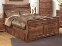 Timberline Queen Sleigh Bed With Underbed Storagesignature Design Ashley At Wayside Furniture pertaining to Beautiful Queen Size Bedroom Furniture Sets
