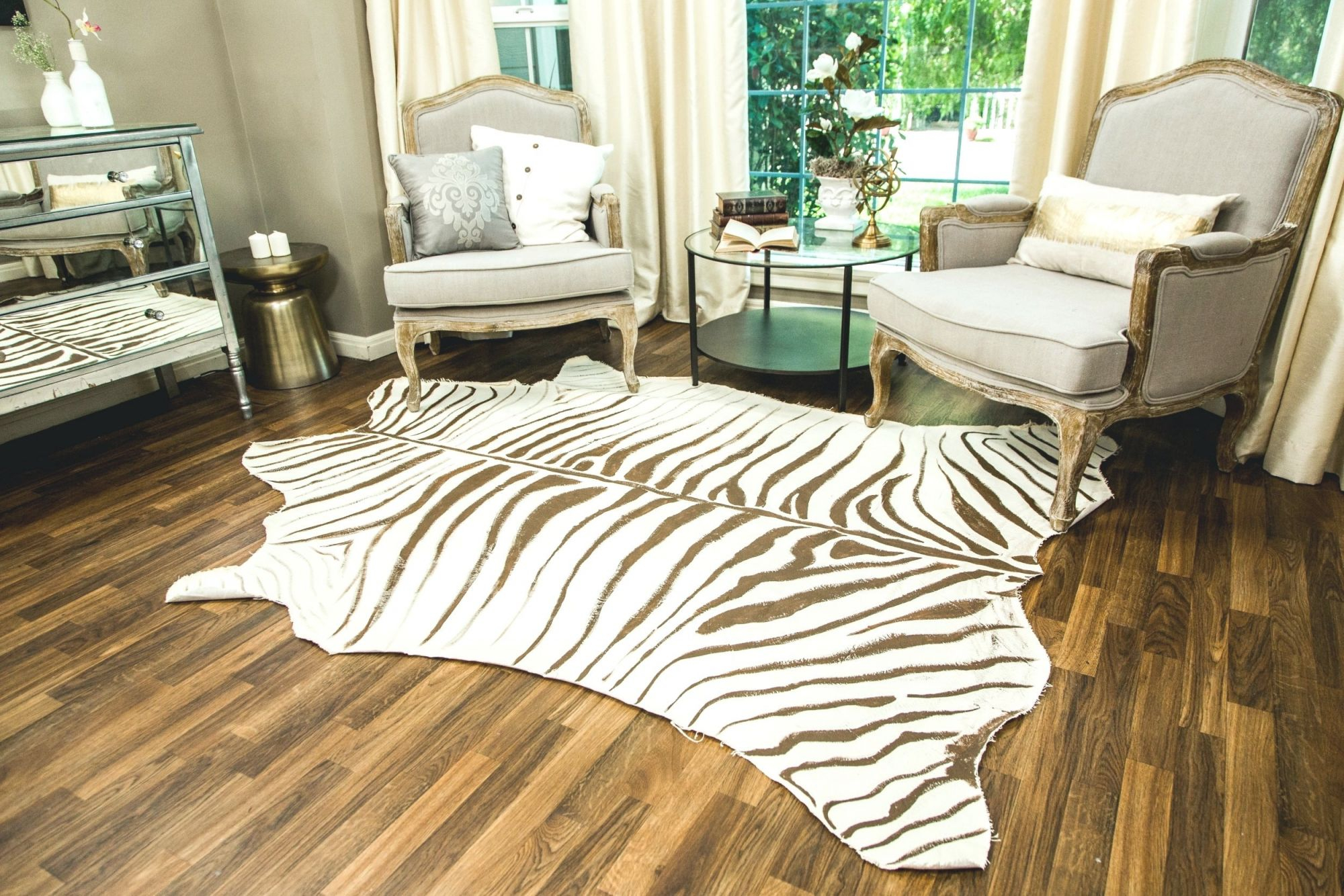 Top 55 Divine Black And White Zebra Print Area Rug Brown within Animal Print Living Room Decor