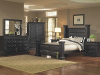 Torreon Antique Black Poster Storage Bedroom Set with regard to Black Bedroom Furniture Set